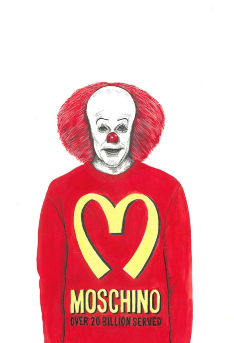 Pennywise in Moschino