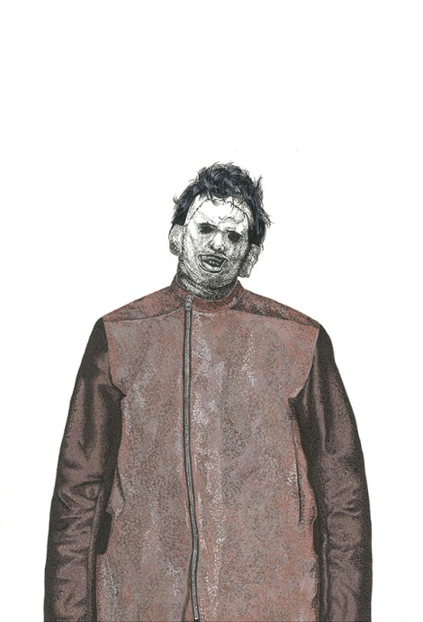Leatherface in Rick Owens